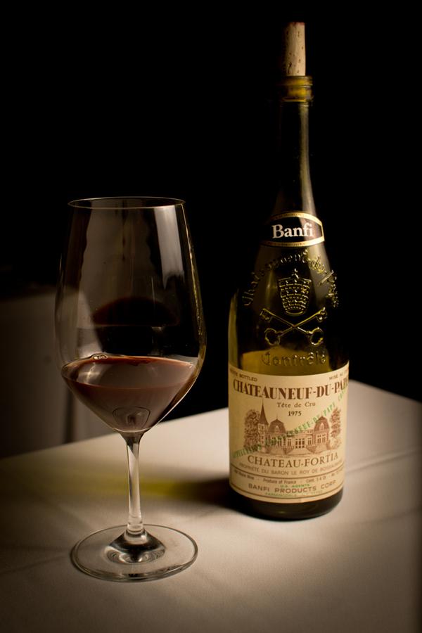 Berns Steak House – 11162011 – 1975 Chateauneuf-Du-Pape