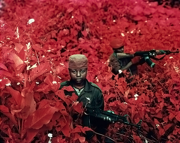 Infrared Warriors by Richard Mosse 2 Infrared Conflict by Richard Mosse