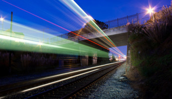 Slow Shutter Trains by Aaron Durand