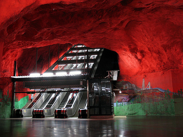 Stockholm Subway 1 Unreal Underground: the Worlds 10 Coolest Subway Systems