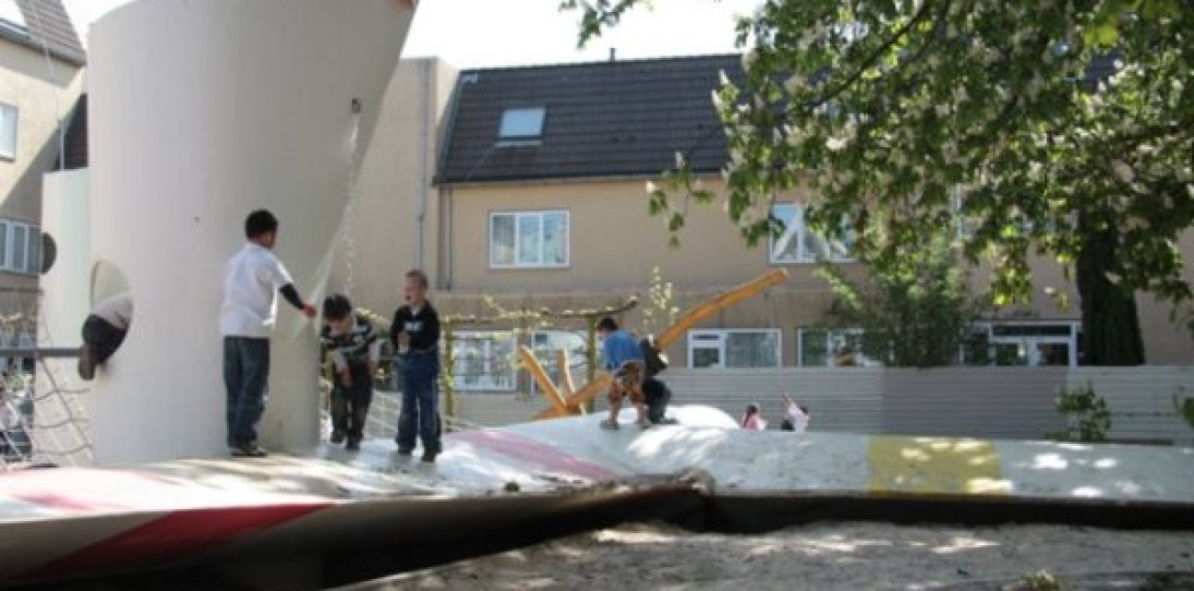Recycled Wind Turbine Playground