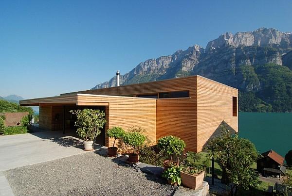 Wohnhaus Am Walensee Swiss House 1 Wohnhaus Am Walensee House by K M Architektur