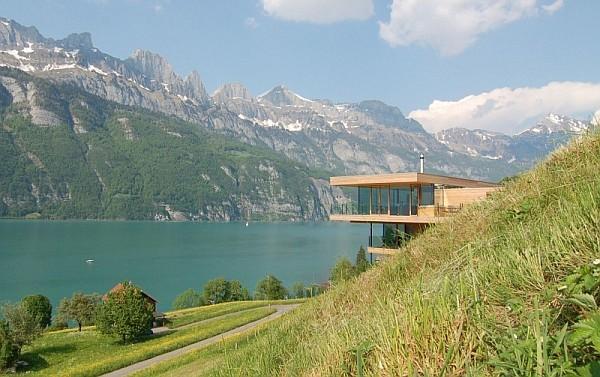 Wohnhaus Am Walensee Swiss Mountainous House 3 Wohnhaus Am Walensee House by K M Architektur
