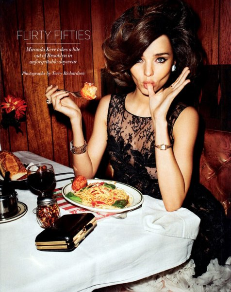 miranda kerr harpers bazaar us april 2012 terry richardson 8 Miranda Kerr in Flirty Fifties Fashion