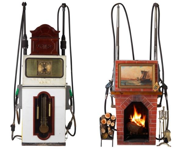 gas pumps converted into art pieces by james dive nissan 4
