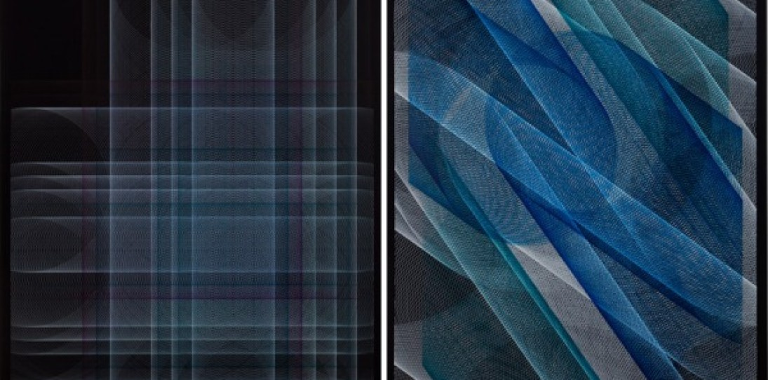 String Art and Geometric Drawings by Sebastien Preschoux