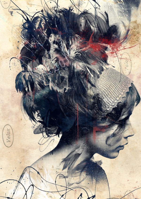 digitally assembled paintings by russ mills 1