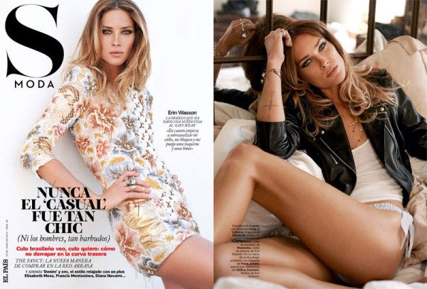 erin wasson june issue s moda magazine 1 Erin Wasson for S Moda Magazine