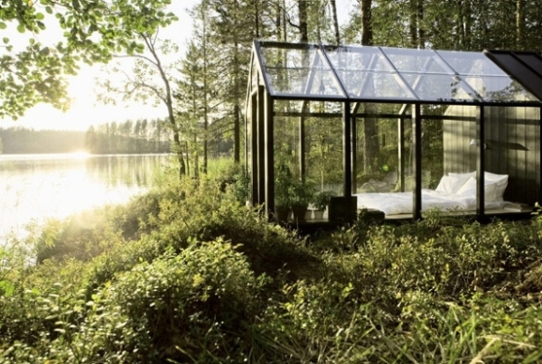 prefabricated garden shed cottage by ville hara and linda bergroth 1 Glass Garden Bedroom Cottage