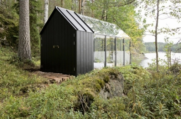 prefabricated garden shed cottage by ville hara and linda bergroth 4 Glass Garden Bedroom Cottage
