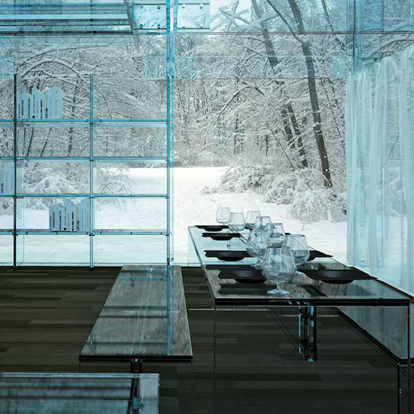 Sleek Homes Constructed Entirely Out Of Glass by carlo santambrogio and ennio arosic 2 Glass Homes by Santambrogio