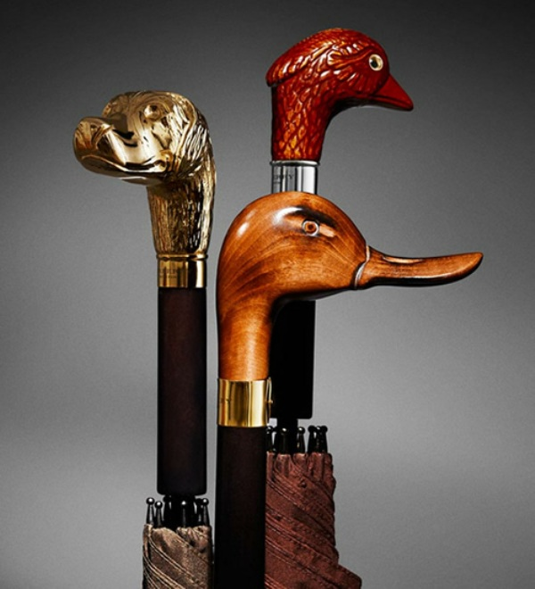 burberry aw12 umbrella limited edition duck handle 1 Burberry A/W12 Limited Edition Umbrellas
