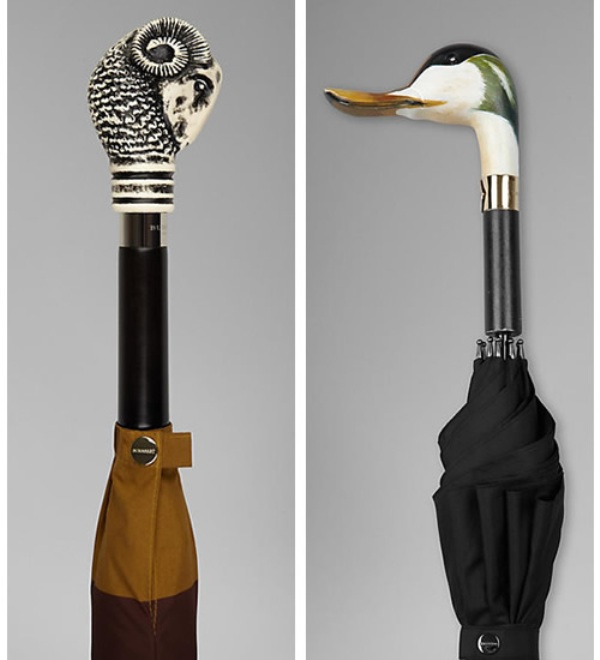 burberry aw12 umbrella limited edition duck handle 2 Burberry A/W12 Limited Edition Umbrellas