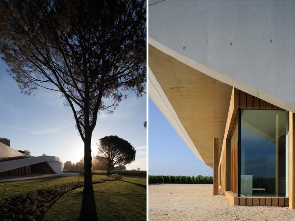 christian de portzamparc chateau chevel blanc winery architecture 6