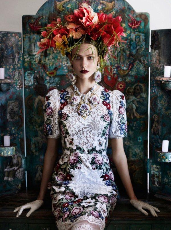 karlie kloss heads brazil vogue us july 2012 photographer mario testino 1 Karlie Kloss for Vogue by Mario Testino