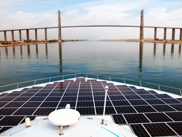 planetsolar the first solar powered boat around the world circumnavigate 8