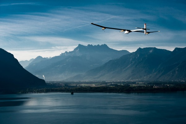 solar impulse forst solar powered intercontinental aircraft journey HB SIA airplane 2