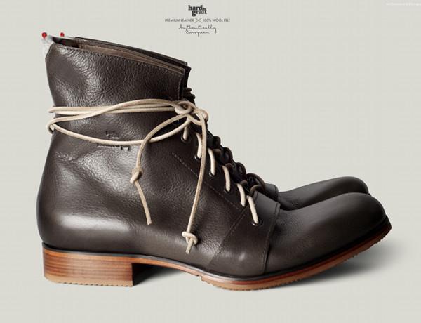 Hard Graft Shoes – Mens High Boot – Gray 1