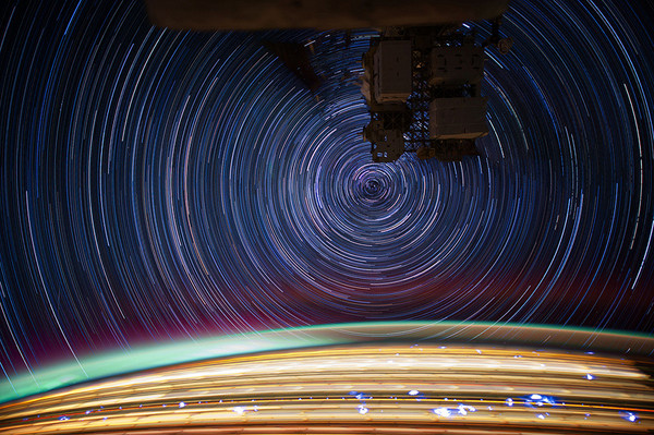 ISS Star Trails by Don Pettit 7 Slow Shutter Space Travel Photography