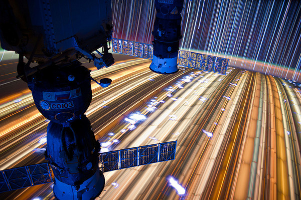 ISS Star Trails by Don Pettit 9 Slow Shutter Space Travel Photography