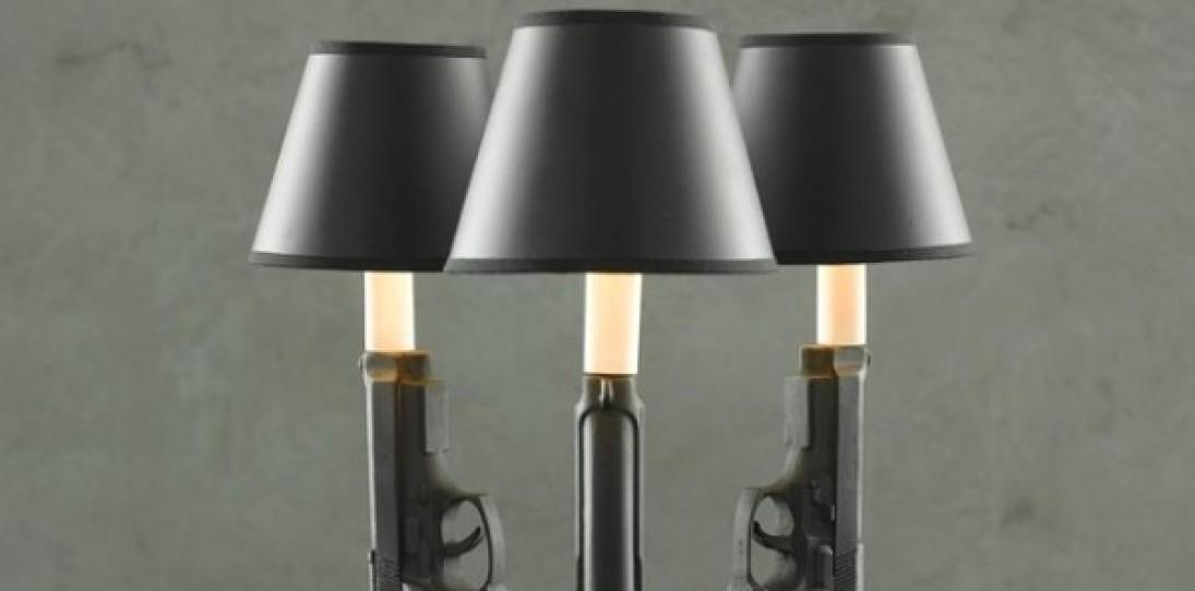 Ceramic Gun Lights by Ryan Weigner