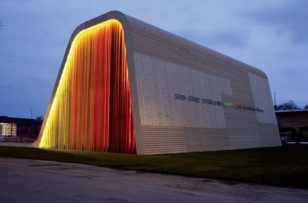 colorful functional and sustainable spanish pavilion by pulgon diseno architecture in venlo netherlands 4