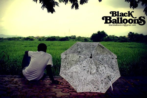 handpainted umbrella designs made in india by black balloons for monsoon season 12