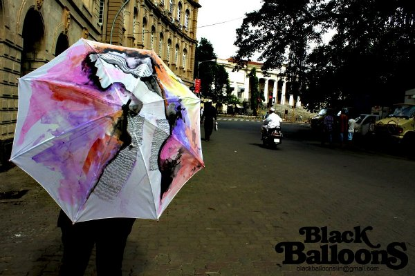 handpainted umbrella designs made in india by black balloons for monsoon season 14
