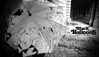 Hand Painted Umbrellas Made in India by Black Balloons