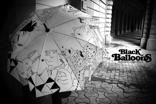 handpainted umbrella designs made in india by black balloons for monsoon season 19