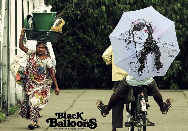 handpainted umbrella designs made in india by black balloons for monsoon season 7