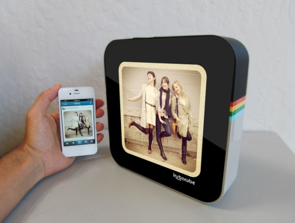 instagram instacube smart device wireless image feed at three times the size android based 1