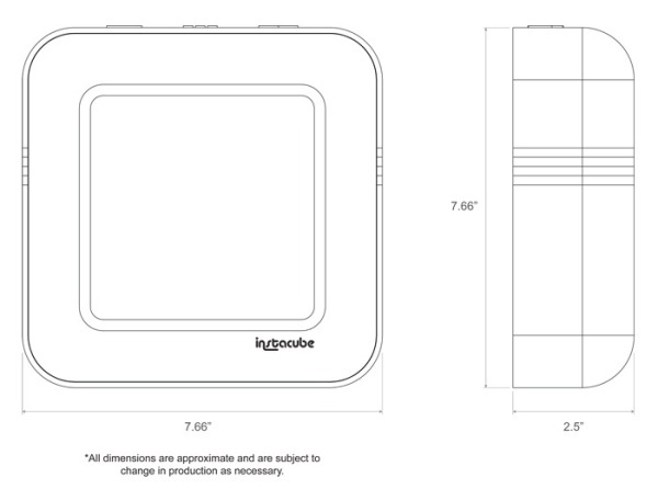 instagram instacube smart device wireless image feed at three times the size android based 9