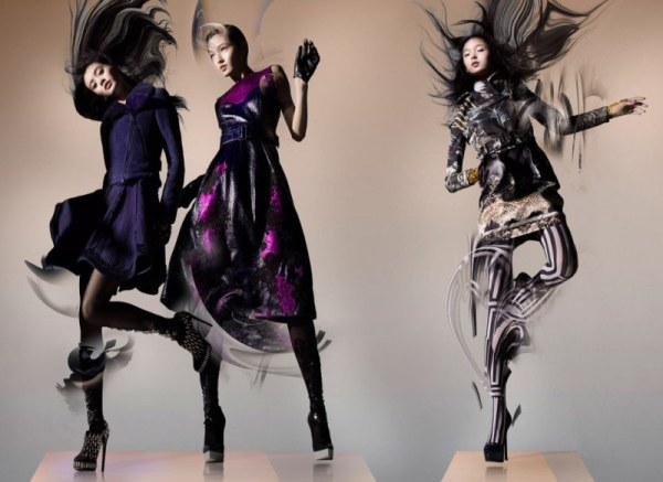 ming xi xiao wen wan xiao lane crawford fall 2012 campaign photographer nick knight 1 Lane Crawford Fall 2012 by Nick Knight