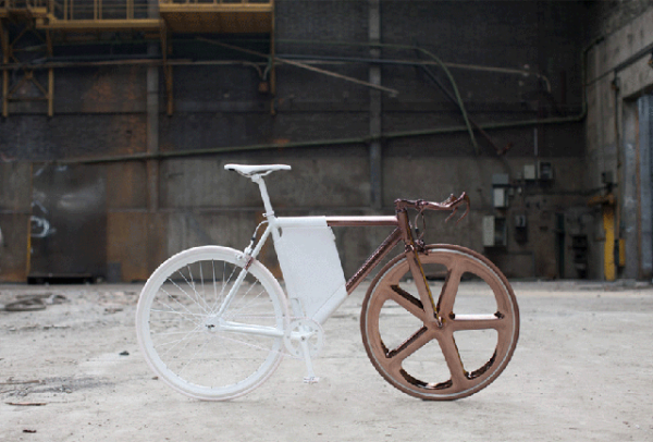 peugeot design labratory DL121 bicycle designer cathal loughnane copper and white 1 Peugeot Design Laboratory  DL121 Bicycle