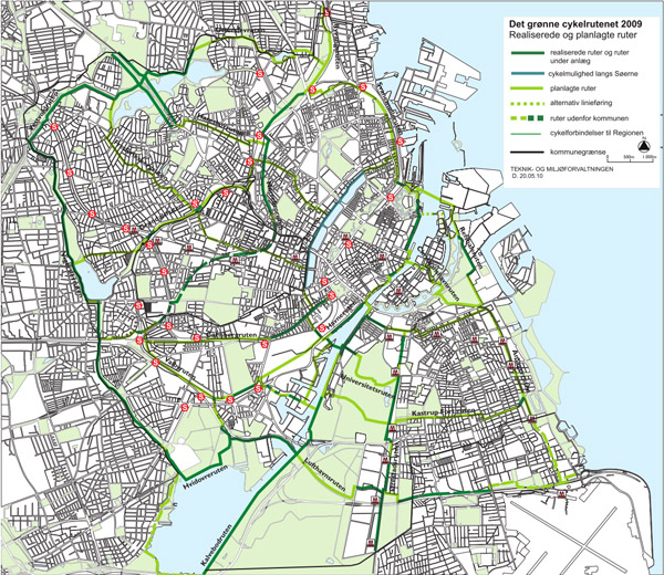copenhagen green path map