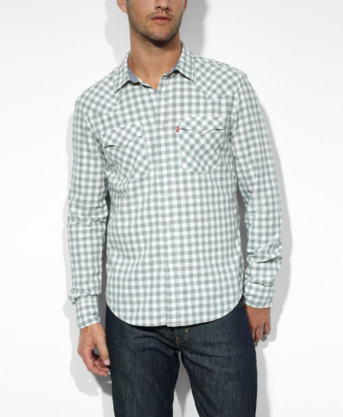 Levi's Barstow Western Shirt in Gray Chambray