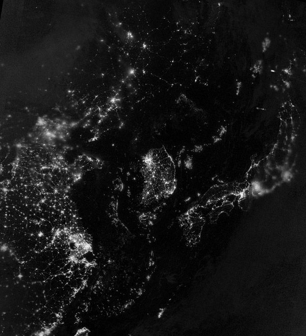 Earth from Space 2012 – NASA Black Marble 1