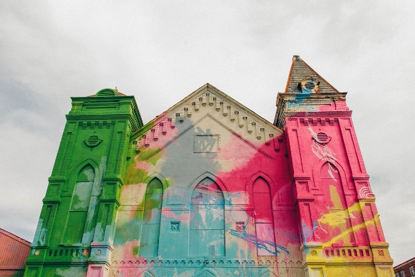 Rubell painted historic church art installation washington dc 3 Color Graffiti by Hense