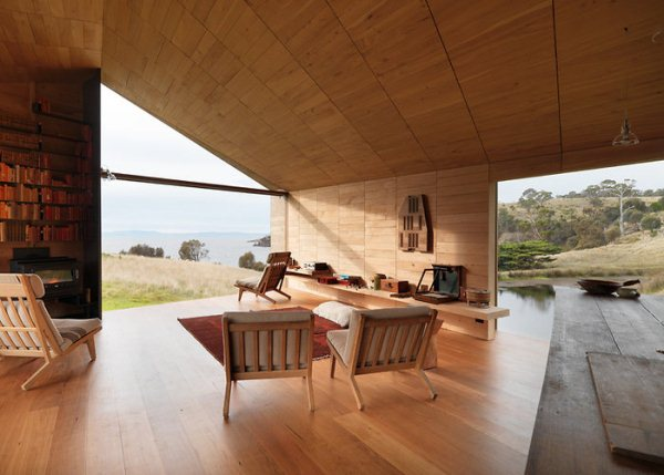 slide dezeen john wardle architects shearers quarters north bruny island tazmania 6 Modern Tasmanian Barn Transformation