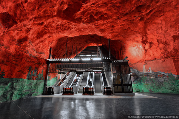 Alexander Dragunov Stockholm Subway Photography 2