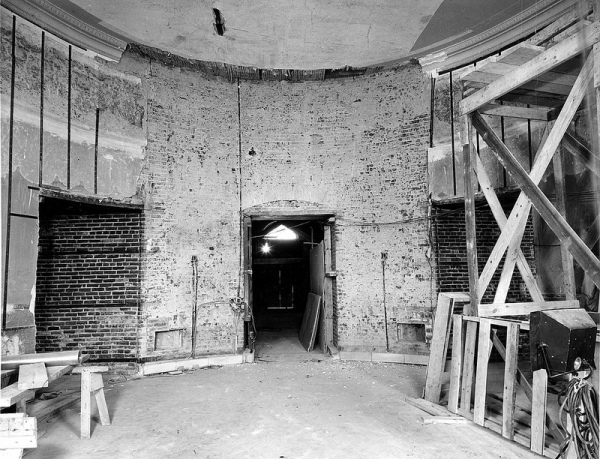 white house fully gutted under construction vintage photographs 9