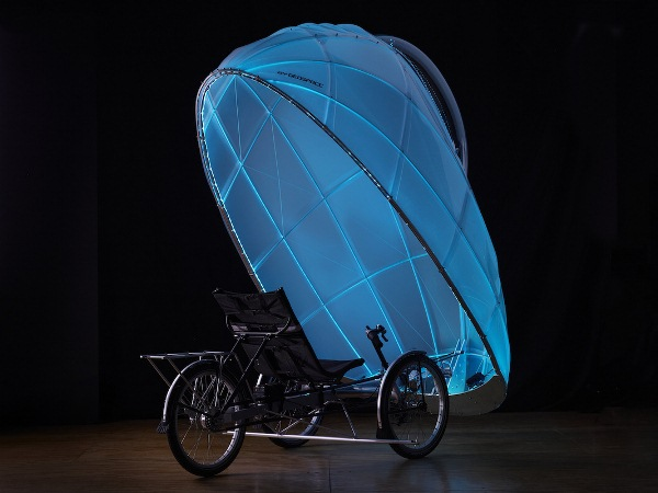 firefly geospace trike all weather illuminated human powered vehicle 2 The FireFly Self Powered Vehicle