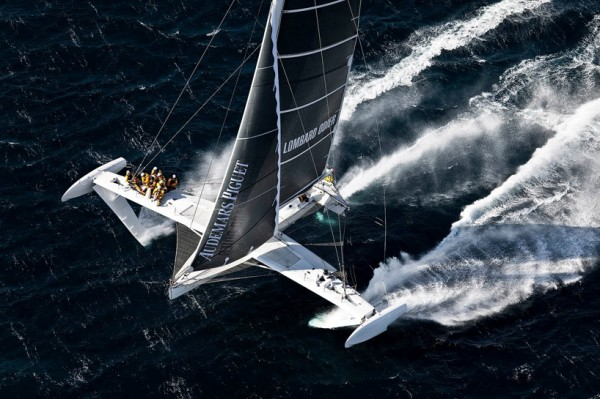 Hydroptere Sailboat Setting Speed Records 2