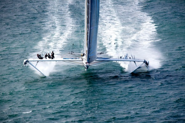 Hydroptere Sailboat Setting Speed Records 3
