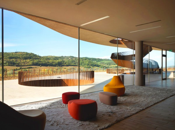 Cantina Antinori Winery 5 600x446 The Architecture of Wine: 10 Stunning Winery Designs