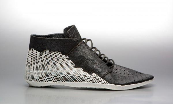 3D Printed Shoe by Earl Stewart 1 600x360 3D Printed Hybrid Shoe by Earl Stewart