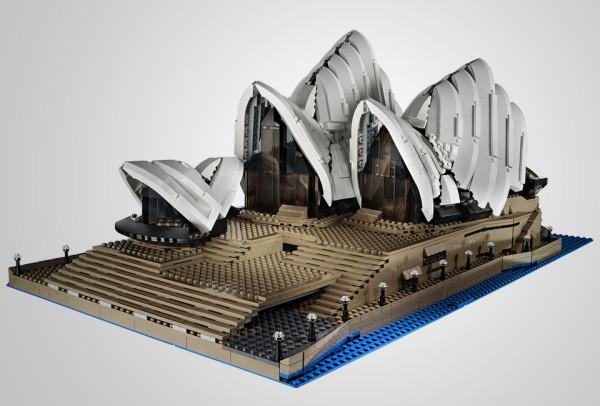 LEGO Sydney Opera House 1 600x406 LEGO Sydney Opera House