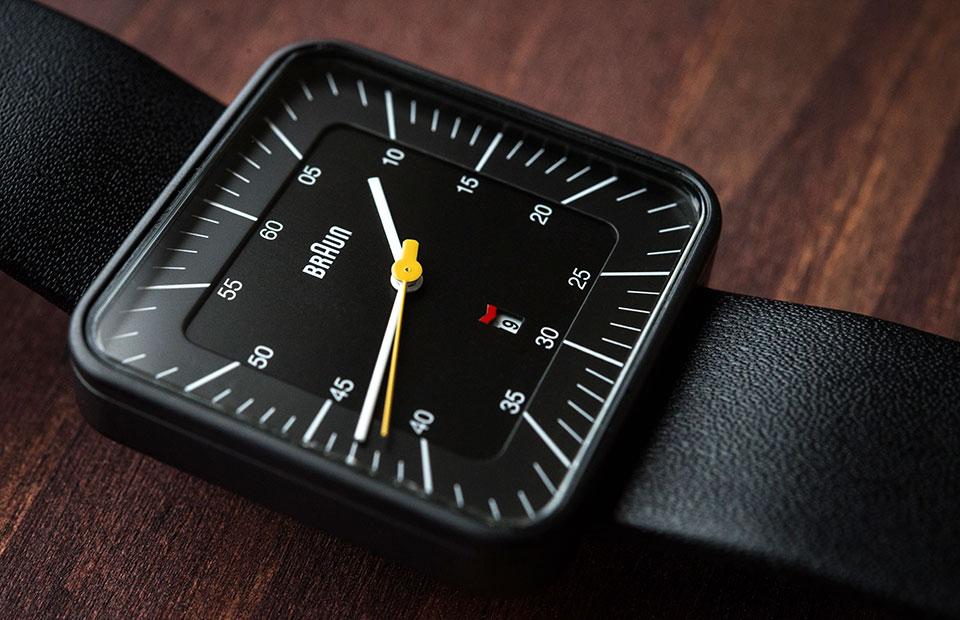 Braun-BN0042-Black-Date-Leather—Face-Detail