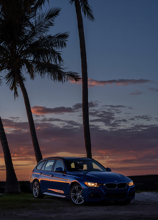 2014-BMW-328d-Sunset-Side-Shot